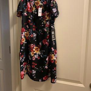 Express Cold Shoulder Flower Dress